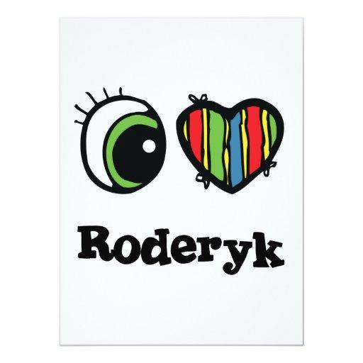"""Amo (corazón) Roderyk Invitación 6.5"""" X 8.75"""""""