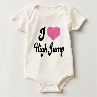 Amo (corazón) salto de altura body para bebé