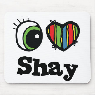 Amo (corazón) Shay Alfombrilla De Ratón