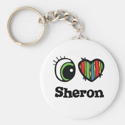 Amo (corazón) Sheron Llaveros Personalizados