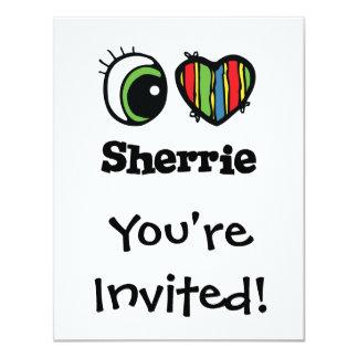 """Amo (corazón) Sherrie Invitación 4.25"""" X 5.5"""""""