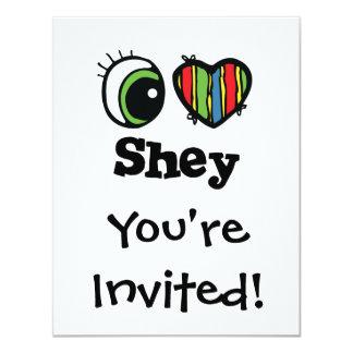 """Amo (corazón) Shey Invitación 4.25"""" X 5.5"""""""