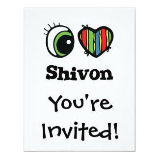 "Amo (corazón) Shivon Invitación 4.25"" X 5.5"""