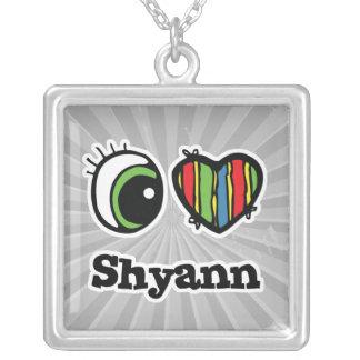 Amo (corazón) Shyann Colgante Cuadrado