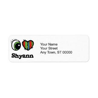 Amo (corazón) Shyann Etiqueta De Remite
