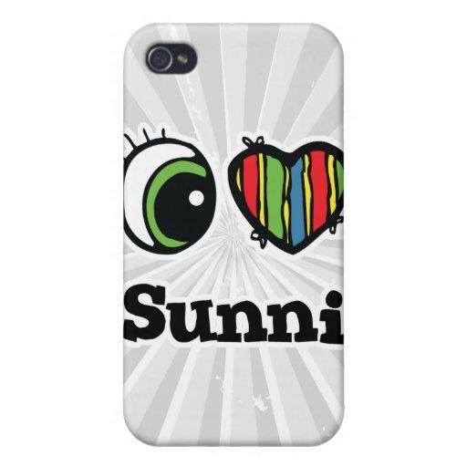 Amo (corazón) Sunni iPhone 4 Carcasa