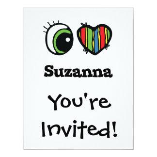 """Amo (corazón) Suzanna Invitación 4.25"""" X 5.5"""""""