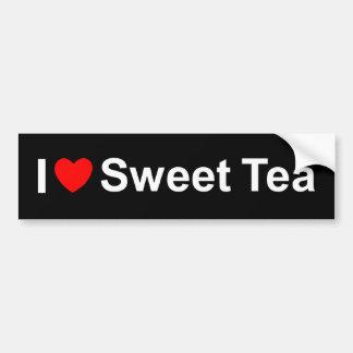 Amo (corazón) té dulce etiqueta de parachoque