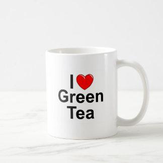 Amo (corazón) té verde taza