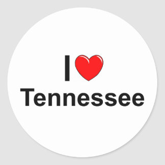 Amo (corazón) Tennessee Etiqueta Redonda