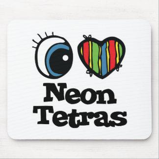Amo (corazón) Tetras de neón Tapetes De Ratones