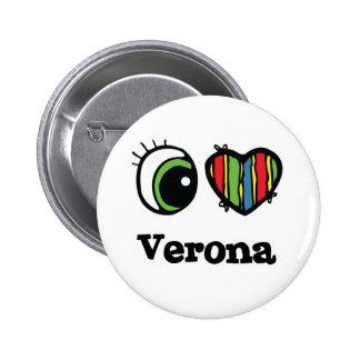 Amo (corazón) Verona Pin Redondo 5 Cm