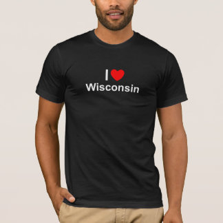 Amo (corazón) Wisconsin Playera
