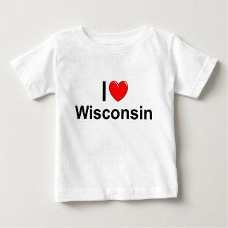 Amo (corazón) Wisconsin Playera De Bebé