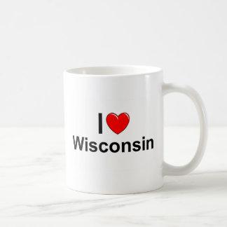 Amo (corazón) Wisconsin Taza Clásica