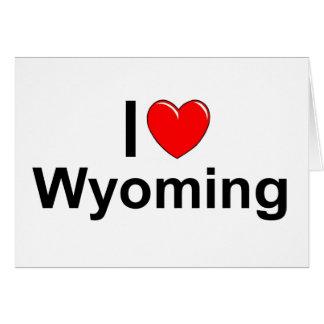 Amo (corazón) Wyoming Tarjeta De Felicitación