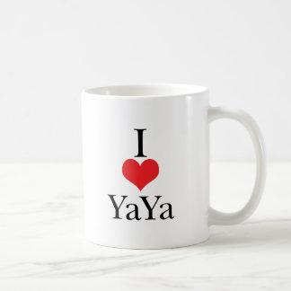 Amo corazón YaYa Taza De Café