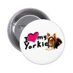 Amo (corazón) Yorkies Pins