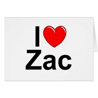 Amo (corazón) Zac Tarjeta De Felicitación