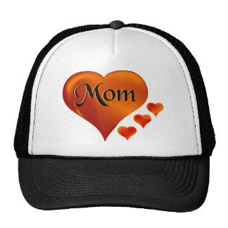 """Amo corazones de la mamá con la palabra """"mamá """" gorras"""