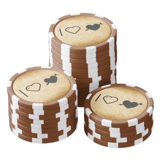 Amo corazones del Cupid Fichas De Póquer