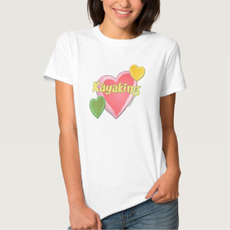 Amo corazones del kajak camisas