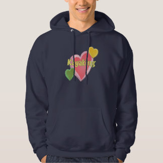 Amo corazones del kajak jersey encapuchado