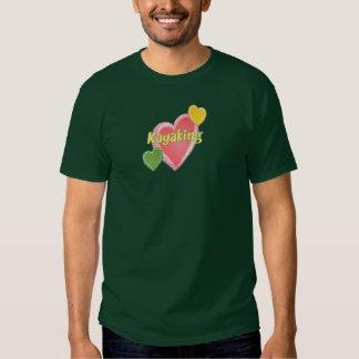 Amo corazones del kajak remera