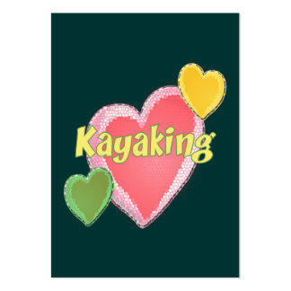 Amo corazones del kajak tarjetas de visita grandes
