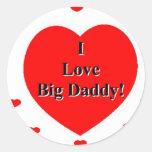 Amo corazones grandes del papá de A. Celeste Pegatinas Redondas