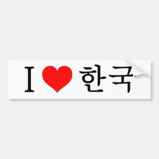 Amo Corea Pegatina Para Auto