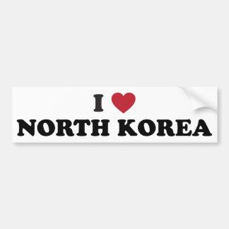 Amo Corea del Norte Pegatina Para Auto
