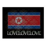 Amo Corea del Norte fresca Tarjeta Postal