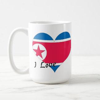 Amo Corea del Norte Taza Clásica