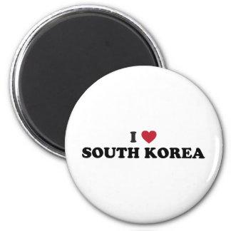 Amo Corea del Sur Imán Redondo 5 Cm