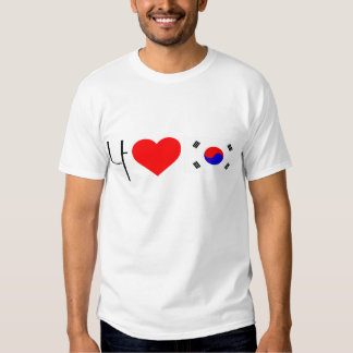Amo Corea del Sur Playera