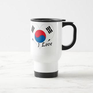 Amo Corea del Sur Taza De Viaje