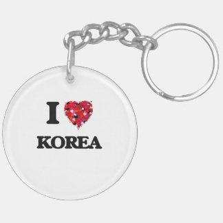 Amo Corea Llavero Redondo Acrílico A Doble Cara