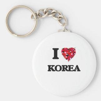Amo Corea Llavero Redondo Tipo Pin