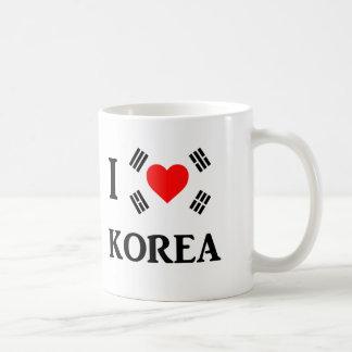 Amo Corea Tazas De Café