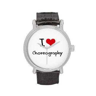 Amo coreografía relojes de mano
