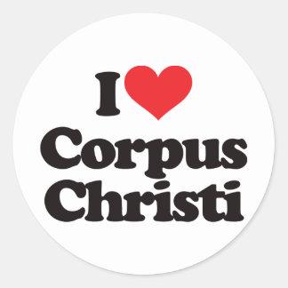 Amo Corpus Christi Pegatina Redonda