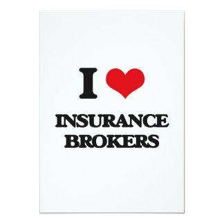 Amo corredores de seguros invitación 12,7 x 17,8 cm