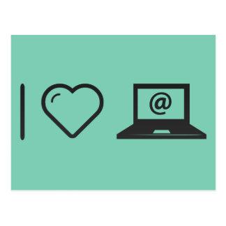 Amo correos electrónicos en línea tarjeta postal