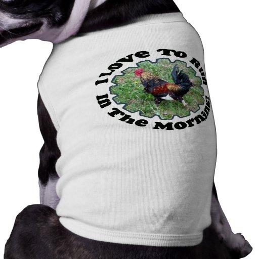 ¡Amo correr por la mañana! Camisa del perro Playera Sin Mangas Para Perro