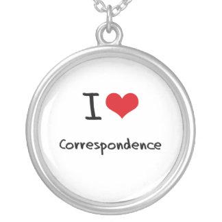 Amo correspondencia collares personalizados