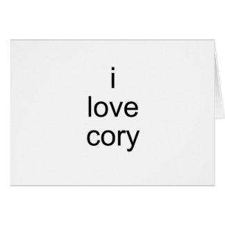 amo cory tarjeta de felicitación