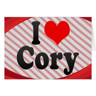 Amo Cory Tarjeta Pequeña