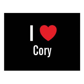 Amo Cory Tarjeta Postal