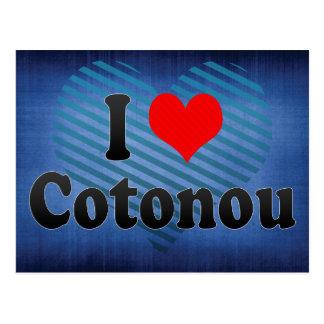 Amo Cotonú, Benin Tarjetas Postales